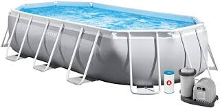 <b>Intex</b> 16.5'X9'X48 <b>Prism Frame Oval</b> Pool Set: Amazon.de: Garten