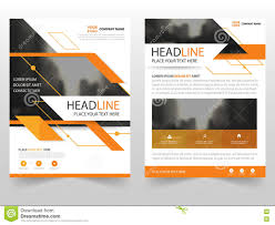 orange vector leaflet brochure flyer business proposal template abstract orange business brochure leaflet flyer annual report template design book cover layout design stock