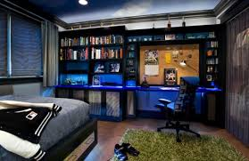 awesome theme boys bedroom ideas in blue modern furniture led lighting boys bedroom lighting