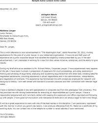 sample cover letter law firm job writing a legal cover letter