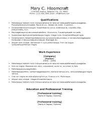 ats resume templates • hloom comvocational