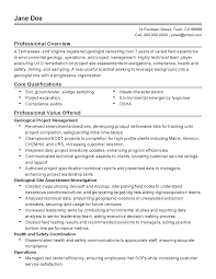 professional geologist templates to showcase your talent resume templates geologist