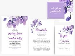 diy word template wedding invitation stationary set editable diy word template wedding invitation stationary set editable word template purple orchid