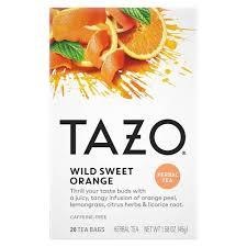 Tazo <b>Wild</b> Sweet Orange Caffeine-Free <b>Herbal Tea</b> - 20ct : Target