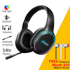 Picun <b>P80S Wireless Gaming</b> bluetooth <b>Headphone</b> LED Stereo ...