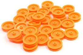 SODIAL(R) <b>30 Pcs</b> 2mm Hole <b>Orange Plastic</b> Belt Pulley for DIY RC ...