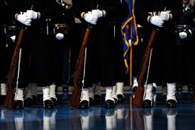 u s department of defense photo essay the u s navy ceremonial guard stands at parade rest during the armed forces full honor farewell