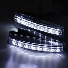 2PCS <b>8 LED</b> DRL Fog Driving Daylight Daytime Running <b>Light Car</b> ...