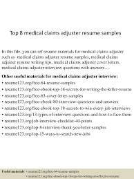 claims adjuster resume sample sample grant cover letter 4jpg cb 1432731113 top8medicalclaimsadjusterresumesamples 150527125104 lva1 app6891 thumbnail 4 top 8 medical claims adjuster resume samples 48656364