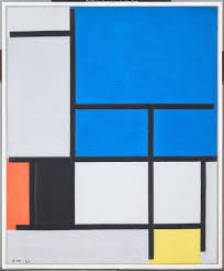 Composition with Large Blue Plane, Red, <b>Black</b>, <b>Yellow</b>, and Gray ...