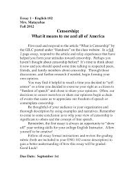 Speech Talk Writing  Student Essay