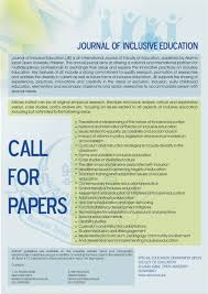call of papers journal of inclusive education