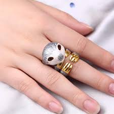 <b>3pcs</b>/<b>set</b> Gold <b>Color</b> Animal Enamel Sloth Cocktail Rings Women ...