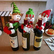 Home, Furniture & DIY <b>Christmas</b> Red Wine Bottle Cover Topper ...
