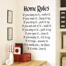 wall decal family art bedroom decor wall home rules wall sticker quotes home decor