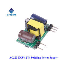 1PCS <b>SANMIN AC DC 220</b> to 9V 0.6A Small Volume Isolated ...