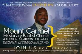 marcus coleman mt carmel missionary baptist church called on us to create a community invitation to their church services as they d just installed a new pastor in pastor