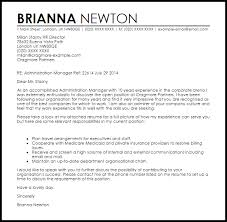 administrator cover letter examples   Template