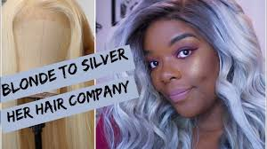From Blonde to Silver  Her <b>Hair Company</b> Eurasian Straight Part 1 ...