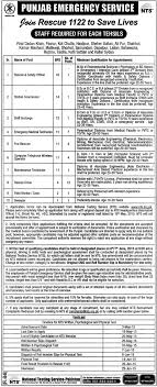 punjab rescue jobs nts application form last date