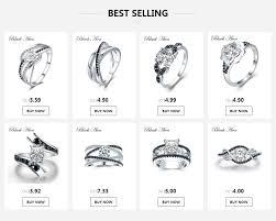 [<b>BLACK AWN</b>] Fine 3.5G <b>Genuine 925</b> Sterling Silver Jewelry ...