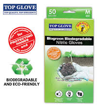 Top Glove BioGreen Biodegradable Nitrile Examination Gloves ...