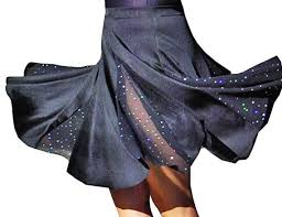 <b>Latin Dance Costume</b>. <b>latin dance skirt</b> with dotted sequins fabric in ...