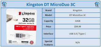 Kingston <b>DataTraveler microDuo 3C USB</b> 3.1 Type-C Flash Drive ...