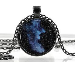 Black Witch Head <b>Nebula</b> Pendant - <b>Galaxy</b> Jewelry - Space ...