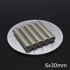 10Pcs 4 x <b>20mm</b> N35 NdFeB Strong Round <b>Cylinder Magnets</b> 4x20 ...