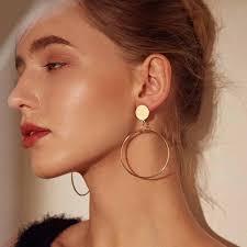 <b>New 2019</b> Female Summer Style <b>exaggerated Big</b> Hollow Earrings ...