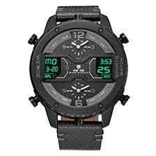 <b>WEIDE</b> Men's 3 Time Zone Analog <b>Watch</b> LCD Display Sport Digital ...