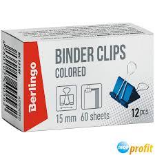 <b>Зажимы</b> для бумаг металлические Berlingo (15мм, до 60 листов ...