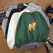 <b>Shiba Inu</b> Hoodied Harajuku Sweatershirt Kawaii Hoody Cartoon ...