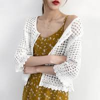 Discount White Lace Cardigans Women