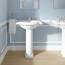 ideas bathroom sinks designer kohler: kohler devonshire vitreous china pedestal combo bathroom sink in white with overflow drain k    the home depot