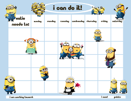 incentives personalized children s reward chore chart minion men