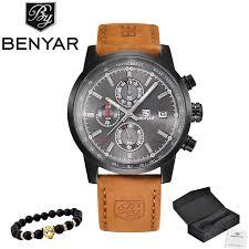 BENYAR Watches Men <b>Luxury Brand Quartz Watch</b> Fashion ...