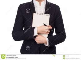 Hands In A <b>Business Suit</b> Holding A <b>Pen</b> And <b>Notebook</b> Stock Image ...