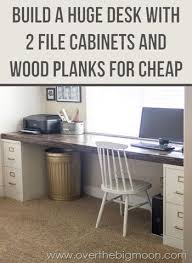 i dont know if theres enough room in the office but this might be good for the kids workstations they could each have a drawer to keep their stuff in bathroomcute diy office homemade desk