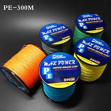 Super Strong 300m 330 yards PE Braided Fishing Line <b>5 Colors</b> 4 ...