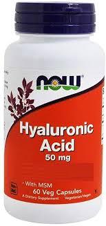 Now Foods Hyaluronic Acid 50 mg + MSM (60 veggie ... - Amazon.com