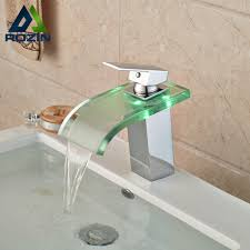 color bathroom sink faucet glass spout