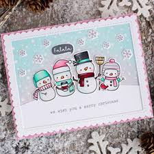 <b>ZhuoAng</b> Winter Lovely Animals Snowman Bear Clear Stamps <b>For</b> ...