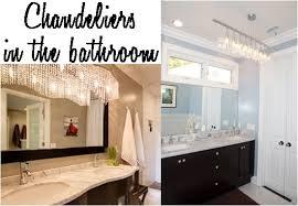 update your bathroom with a chandelier bathroom lighting chandelier