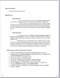 mca fresher resume fresher resume format for mca
