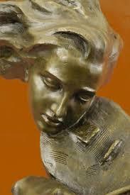 Large Abstract <b>Modern</b> Art Female Violin Player <b>100</b>% <b>Real Bronze</b> ...