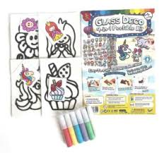 <b>4-in 1</b> Glass <b>Deco</b> Peelable Kit – (Girl Set) With Additional White ...