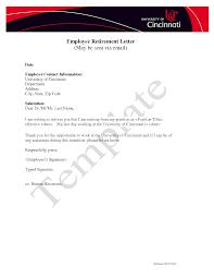 retirement letter to employer retirement letter to notify retirement to employer goodbye retirement letters sample retirement