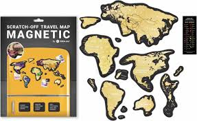 "Скретч <b>карта 1DEA.me</b> ""<b>Travel Map</b>. Magnetic World"", 21 х 29,7 см ..."